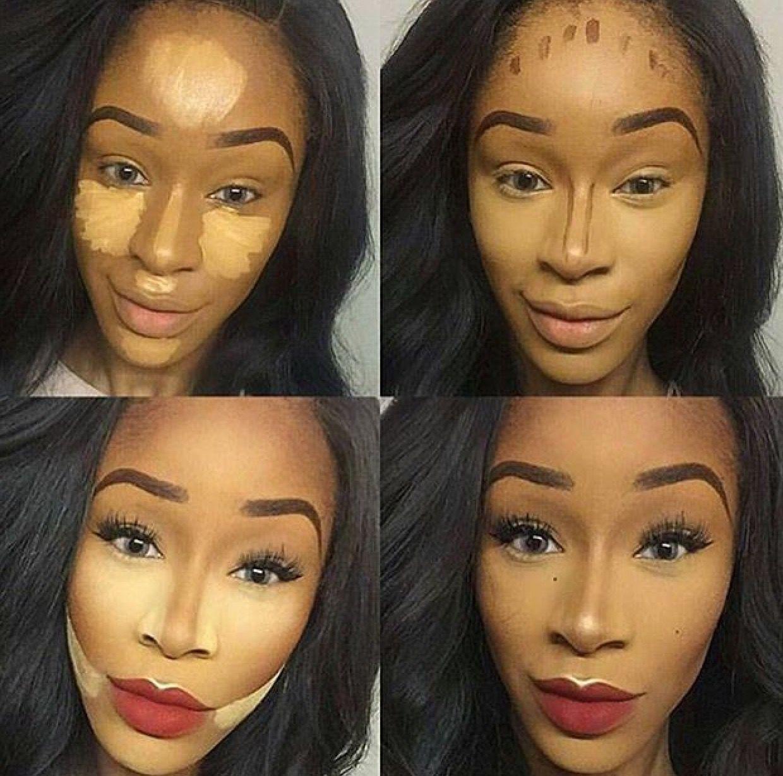 Pin By Lily Melendez On Beauty Contour Makeup Dark Skin Makeup