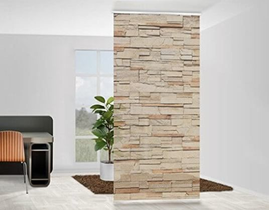 separar ambientes con un panel separadores de espacios Pinterest - steintapete beige wohnzimmer