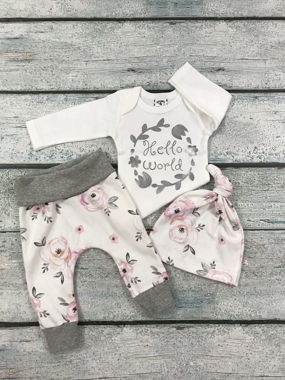 Photo of Baby girl coming home outfit/hello world outfit/coming home outfit spring/baby girl