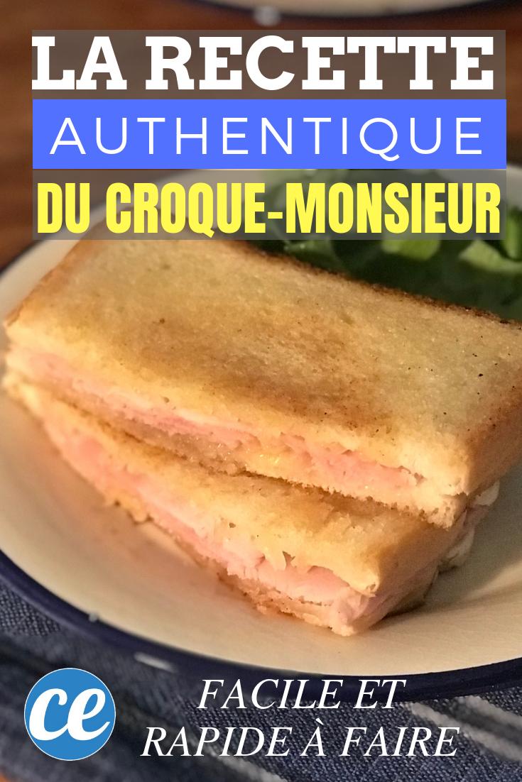 Croque Monsieur A La Poele rapide et super facile à faire : la délicieuse recette du croque-monsieur