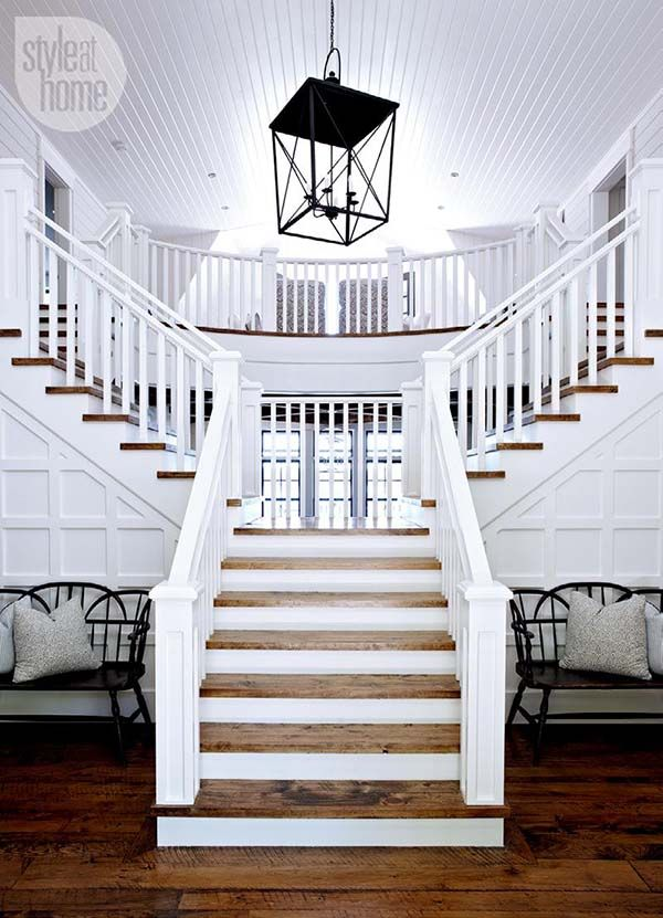 Beautiful Mesmerizing Nantucket Inspired Coastal Cottage On Lake Rosseau · Foyer  IdeasStaircase ...