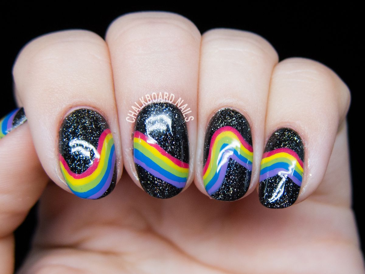 Inspired Galactic Rainbow Nail Art | Nail art, An and Of