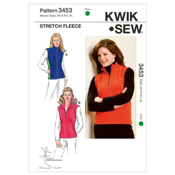 Mccall Pattern K3453 Xs-S-M-L-X-Kwik Sew Pattern   Kwik sew patterns ...