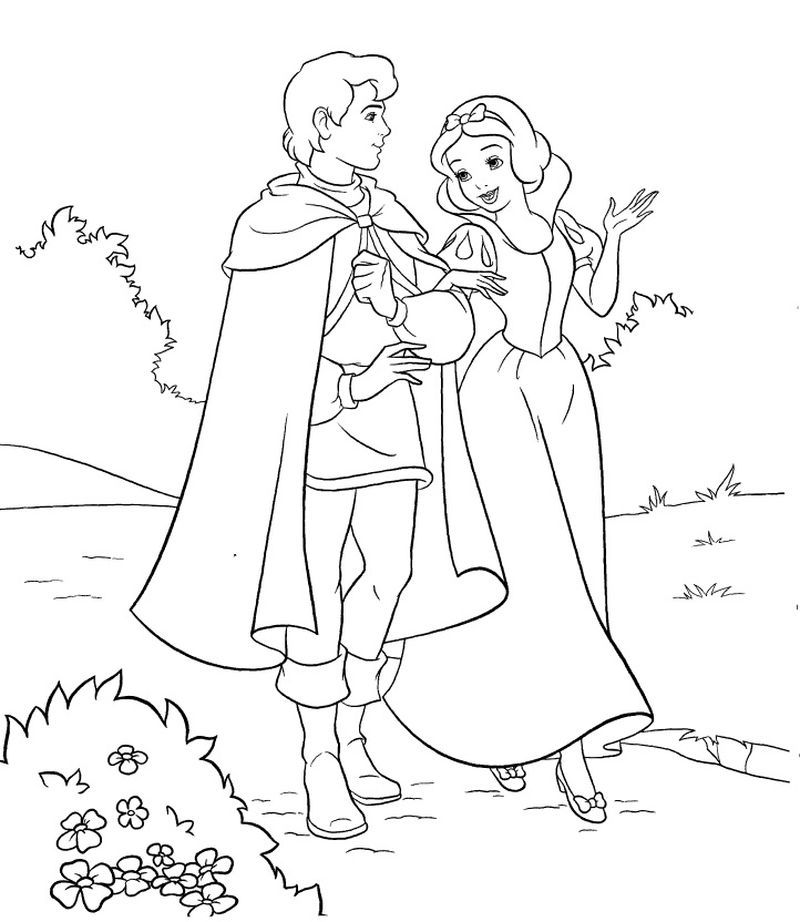 Cinderella And Snow White Coloring Pages. Here is a free