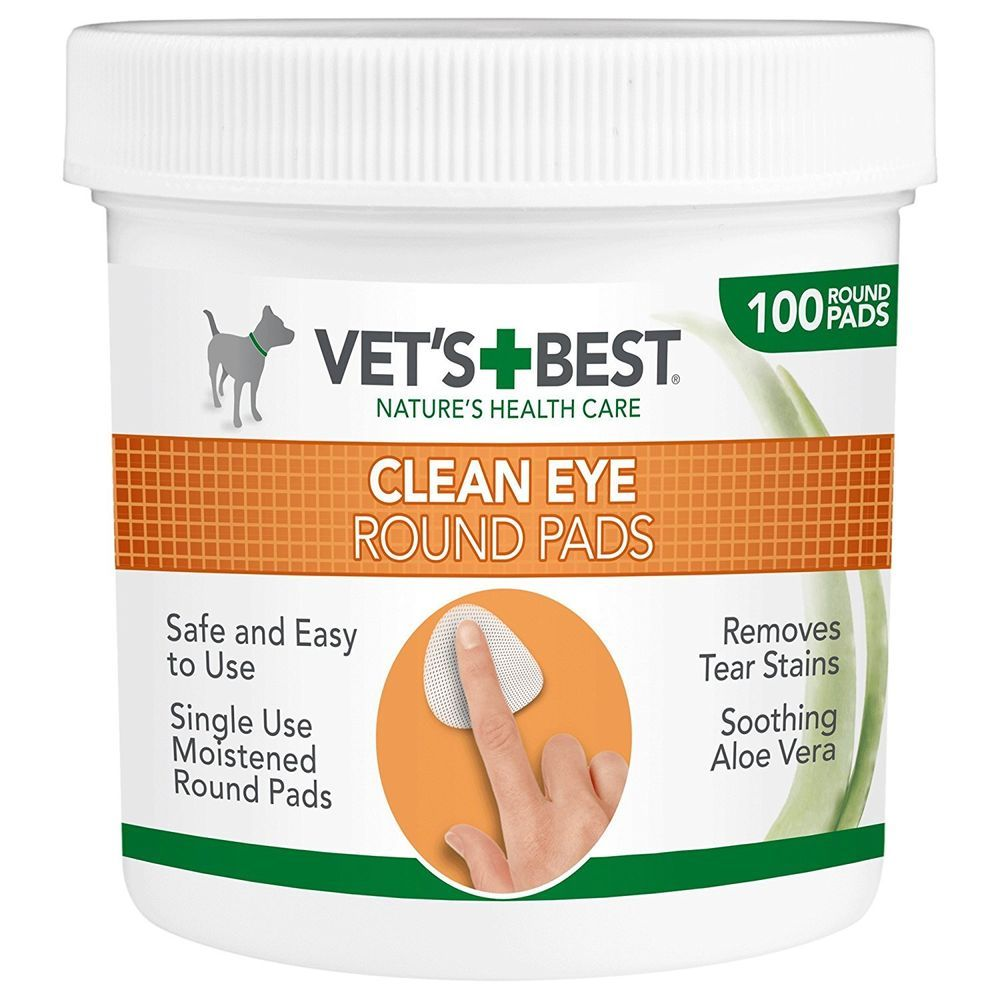 Dog tear stain remover eye cleaning pads wipes dogs