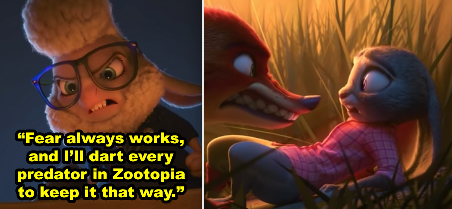 In Zootopia When Judy Realized That Assistant Mayor Bellwether Was Behind All Of The Attacks And Framed Predators As Savage Creatures In 2020 Wild Movie Zootopia Movie Plot