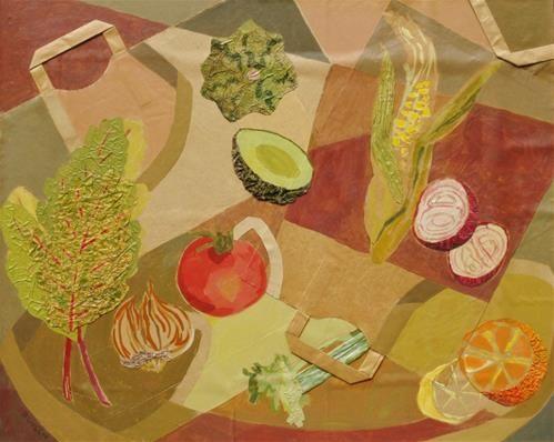 "Daily Paintworks - ""Farmers Market"" - Original Fine Art for Sale - © Priscilla Bohlen"