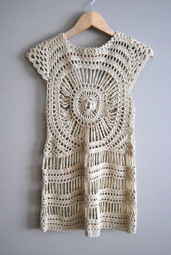 Contemporáneo Patrón Superior Chaleco Crochet Festooning - Manta de ...