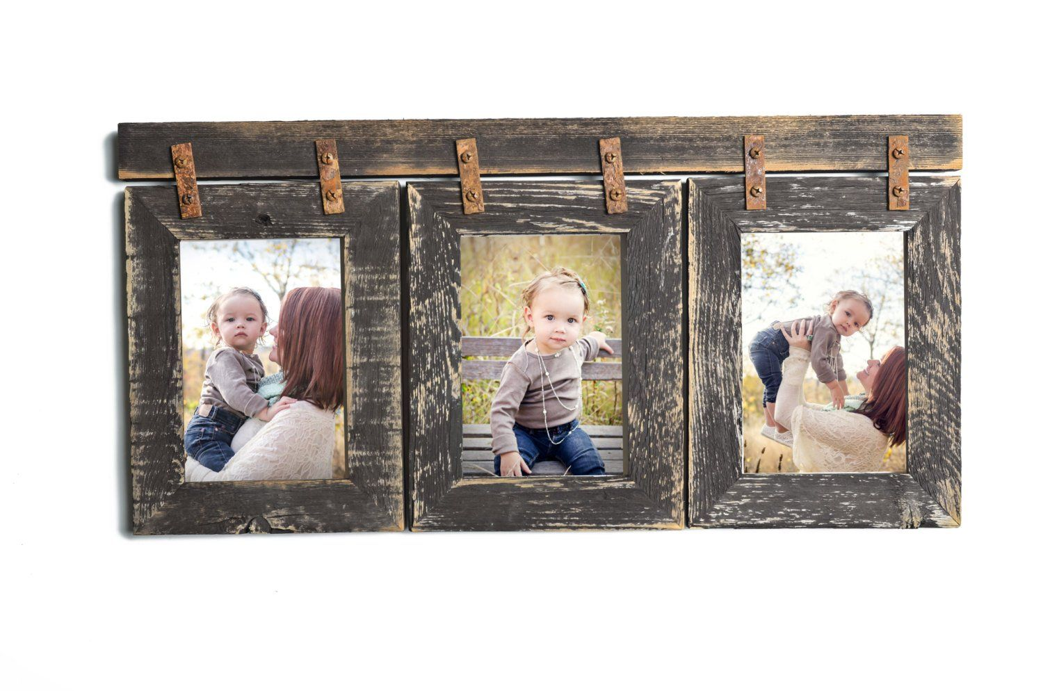 Barnwood Collage Frame 3 Hole 5x7 Multi Opening Frame Pallets