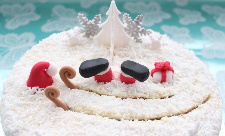 kuchen weihnachten dekorieren nikolaus torte kokoskuchen ...