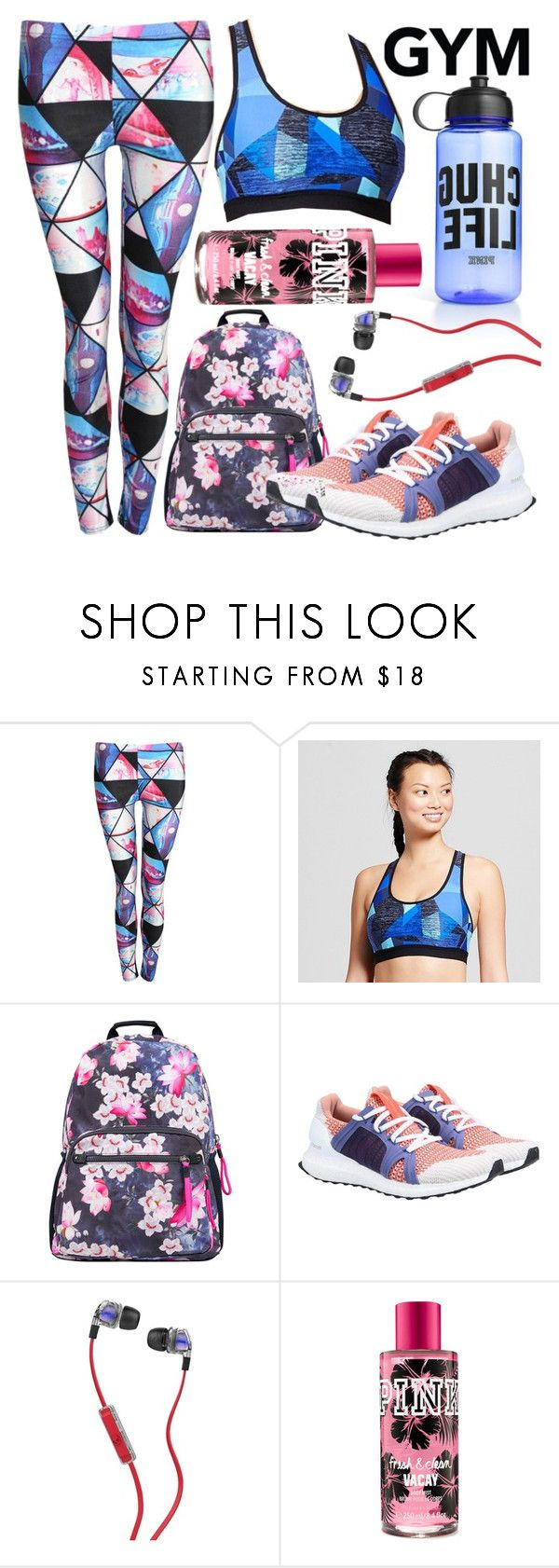 """""""Gym Essentials"""" by minchu ❤ liked on Polyvore featuring Victoria's Secret, Pilot, C9 by Champion, Accessorize, adidas and Skullcandy"""