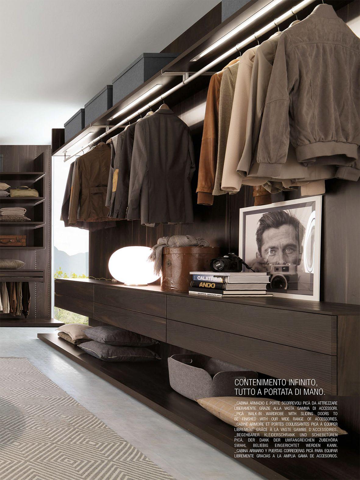 Closet rod mounted on upper shelf. Recessed Led lighting ...