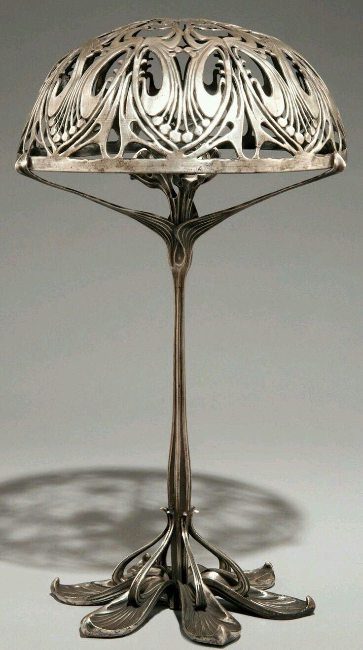 Light Up, Desk Lamp, Table Lamp, Architecture Art, Heavy Metal, Art  Nouveau, Art Deco, Bronze, Liberty