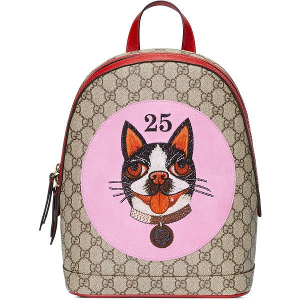1382203b8a55 Gucci Gg Supreme Bosco Backpack found on Polyvore featuring bags ...