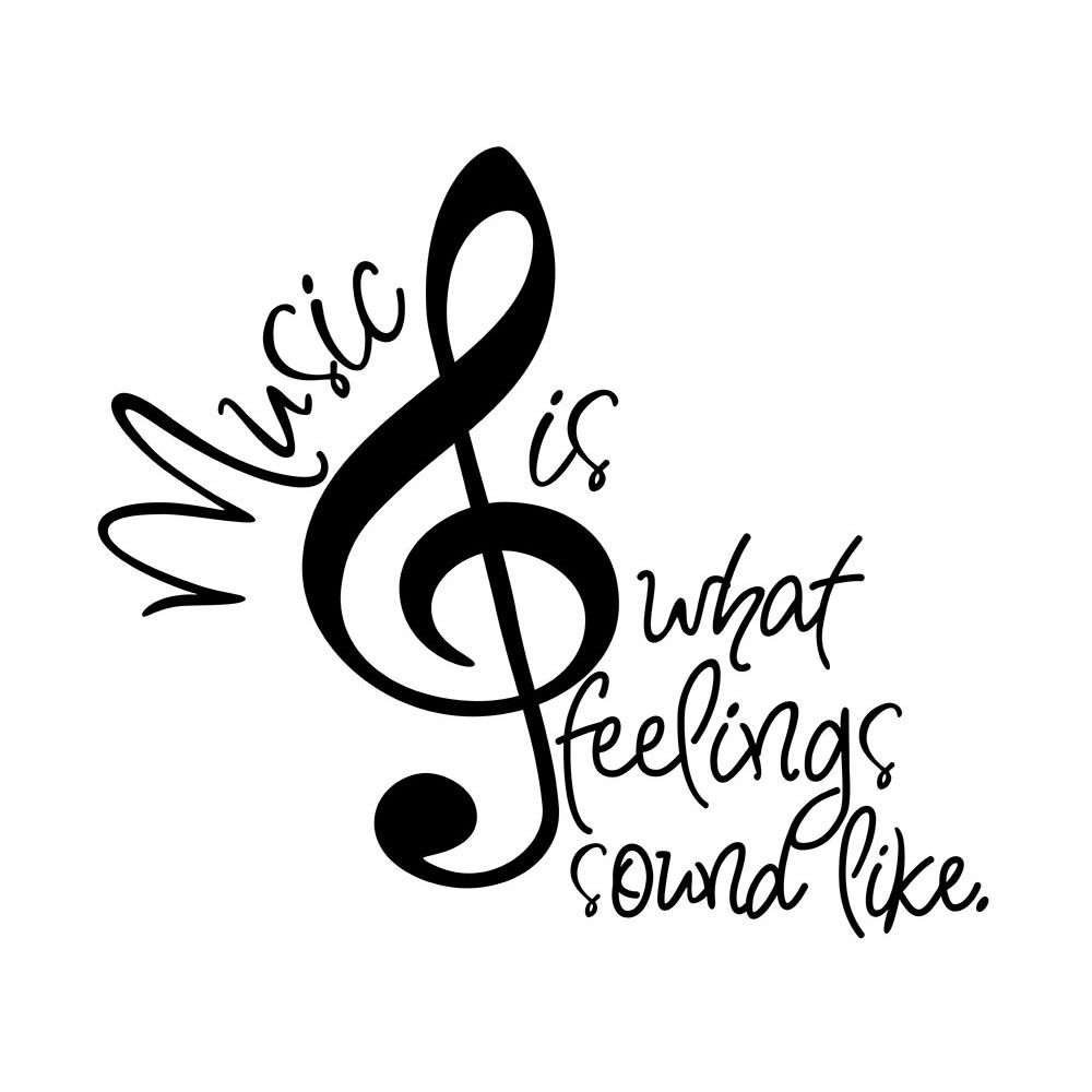 music heart quotes speaks notes soul tattoo clipart clip cricut words note sayings musical teacher needs vinyl quote drawings heals