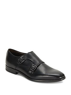 Bruno Magli Siracusa Double Monk Strap Shoes - Black - Size