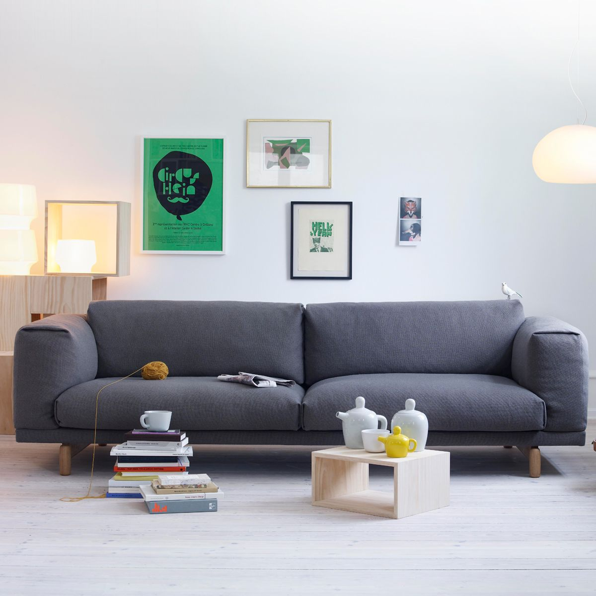 muuto sofa rest 3 sitzer grau hallingdal 153 muuto. Black Bedroom Furniture Sets. Home Design Ideas