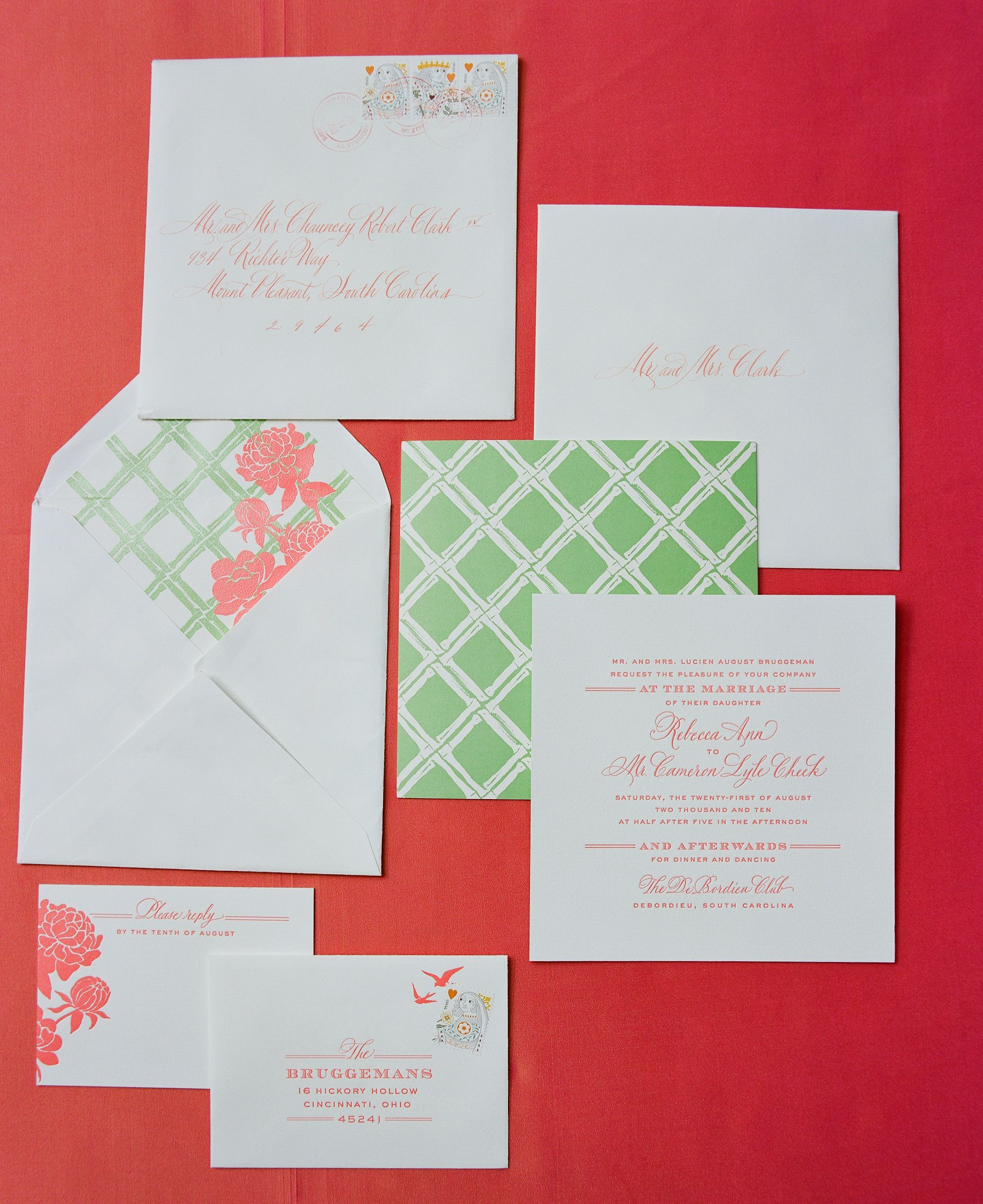 coral + green paper suite by cheree berry|calder clark designs|a ...