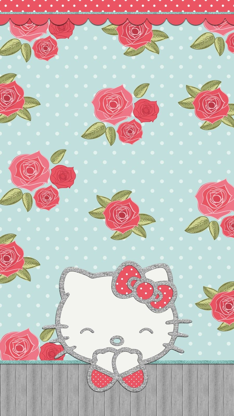 shabby_chic wallpaper iphone Hello kitty backgrounds