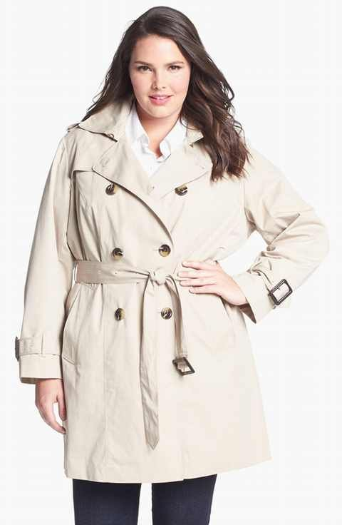 80b5a4f1442 London Fog Heritage Trench with Detachable Liner (Plus Size)