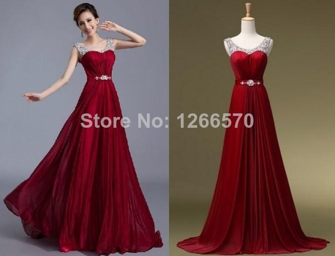 Wholesale Evening Dresses - Buy 2014 New Real Sample Beaded Floor ...
