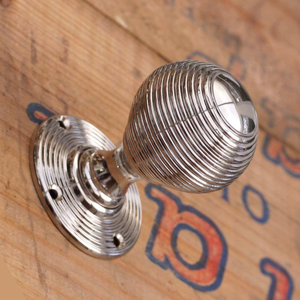 Nickel Beehive Mortise Door Knobs | hardware | Pinterest | Door ...