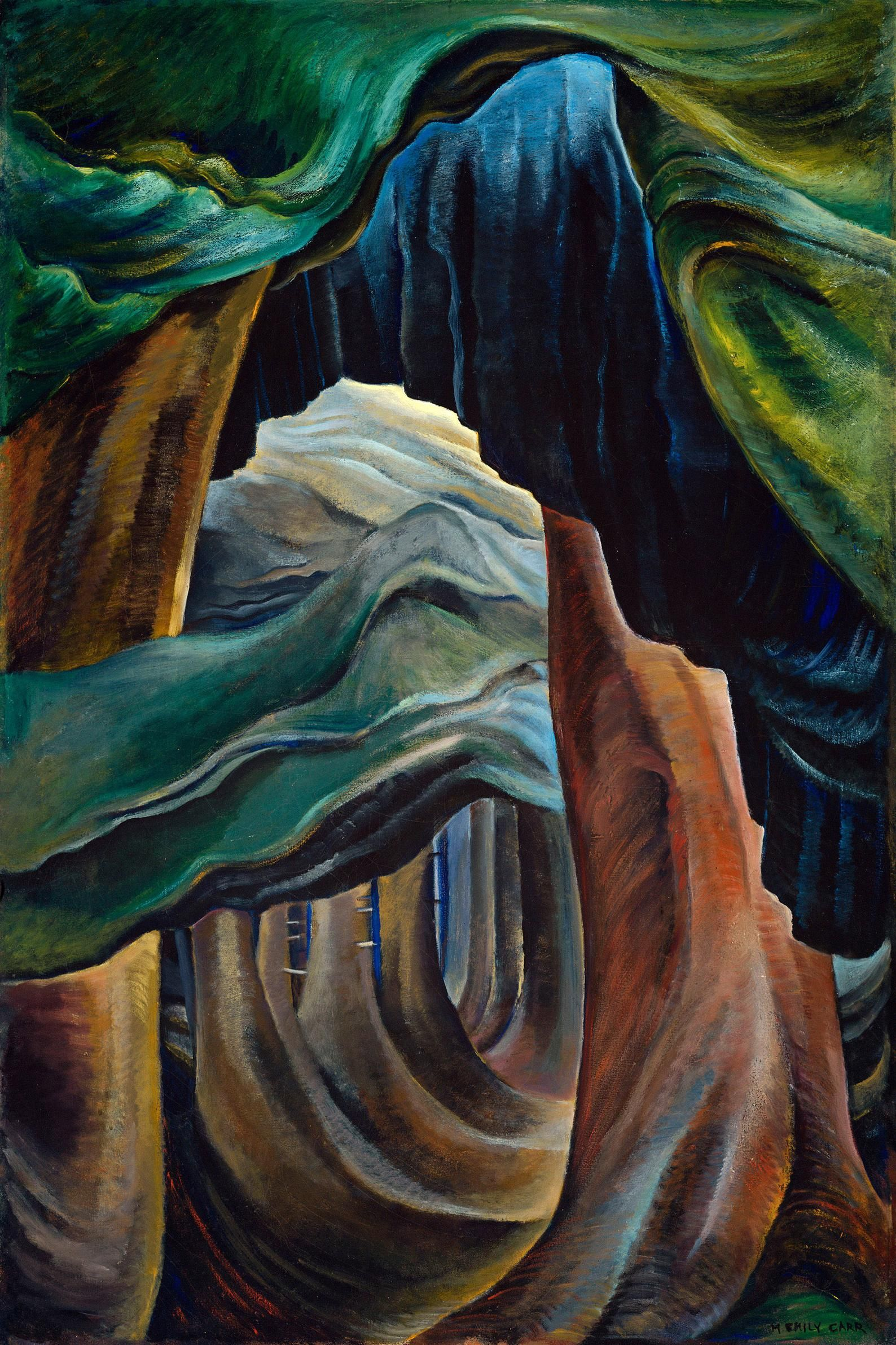 Emily Carr Forest Painting Reproduction Emily Carr Print | Etsy