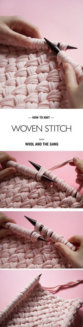 HOW TO... WOVEN STITCH @woolandthegang #RugCrochetPatterns | Crafts ...