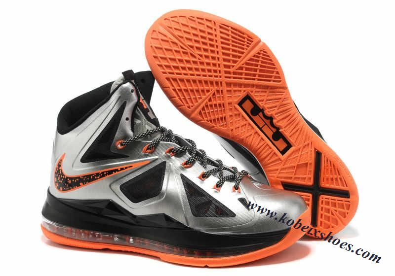 Nike Lebron 10(X) Silver Orange