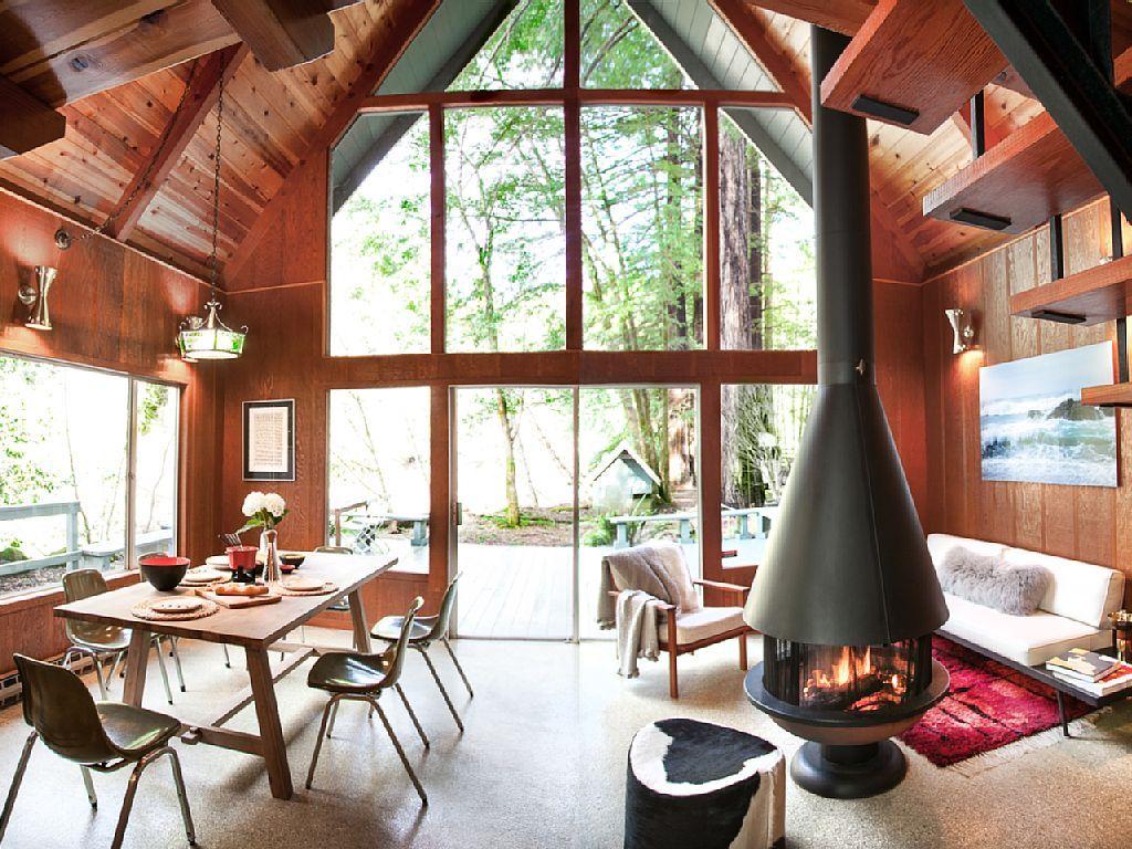 mid century cabin airstream and sauna along vrbo think small rh pinterest com