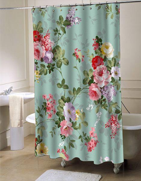 Charmant Vintage Flower Shower Curtain