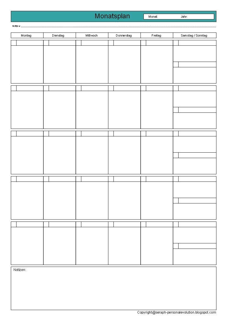Monatsplan-2leer-Zeitmanagement-GTD.jpg 794×1.123 Pixel | Vorlagen ...