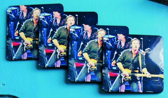 A Bruce Springsteen High Gloss Corked Backed By