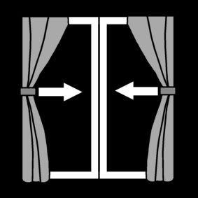 pictogram gordijnen sluiten energie besparen