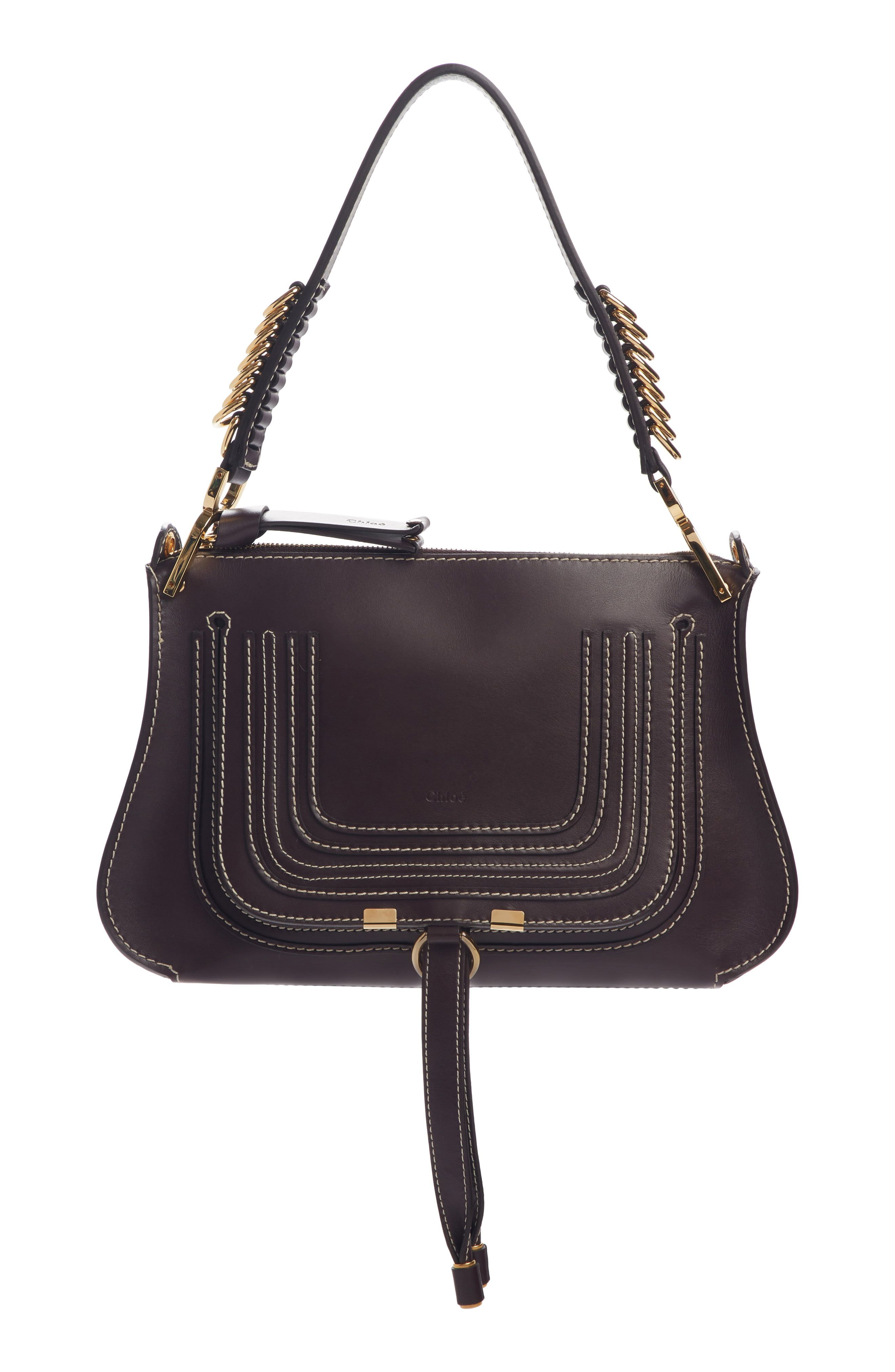 38bf0c9a Chloé Marcie Leather Top Handle Bag in 2019 | Products | Bags ...