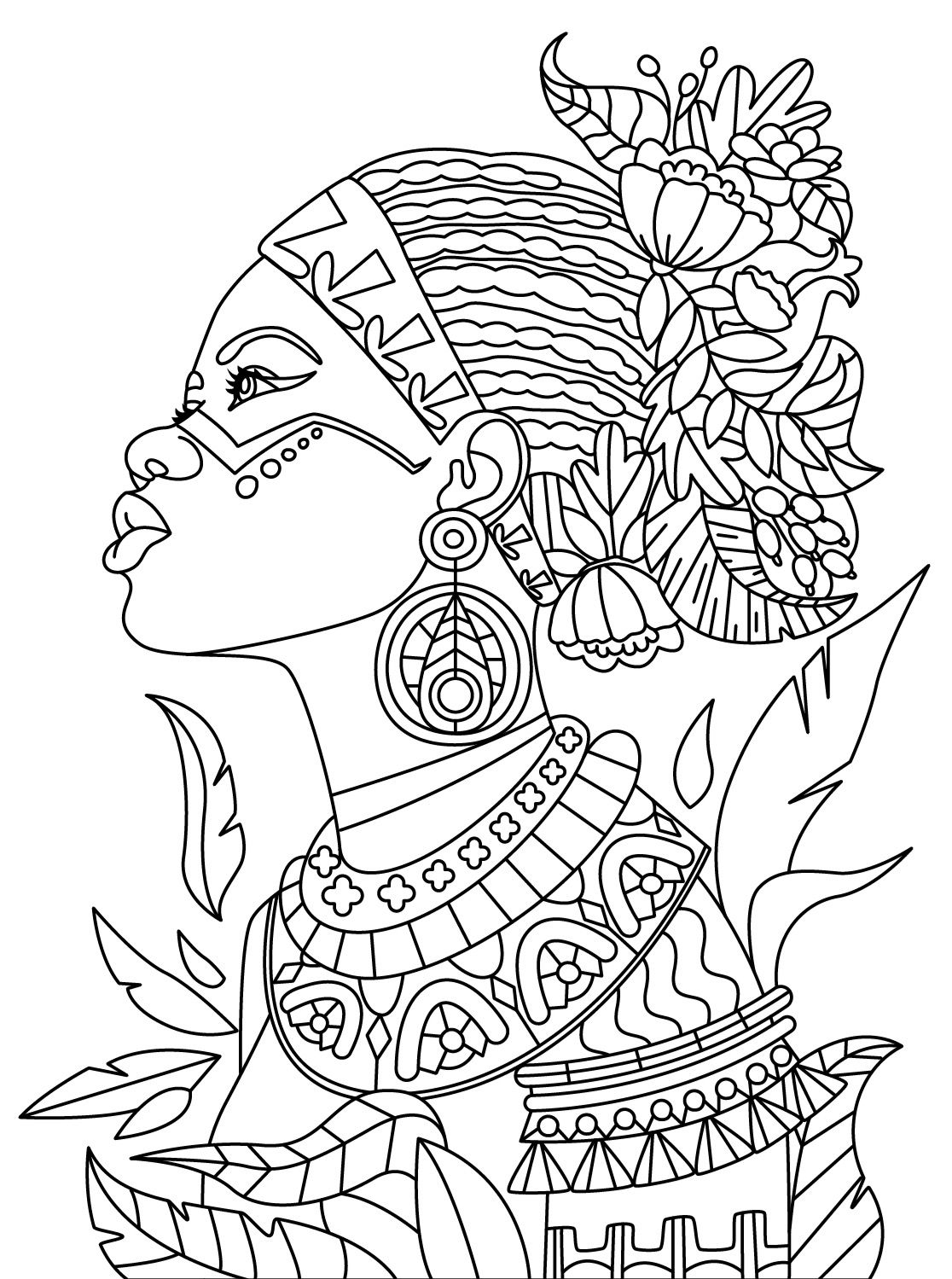 African Colorish coloring book