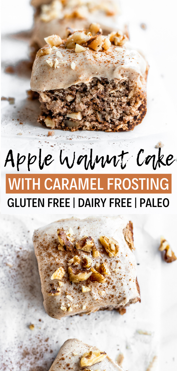 Gluten Free Apple Cake with Caramel Frosting (Paleo) - Simply Jillicious
