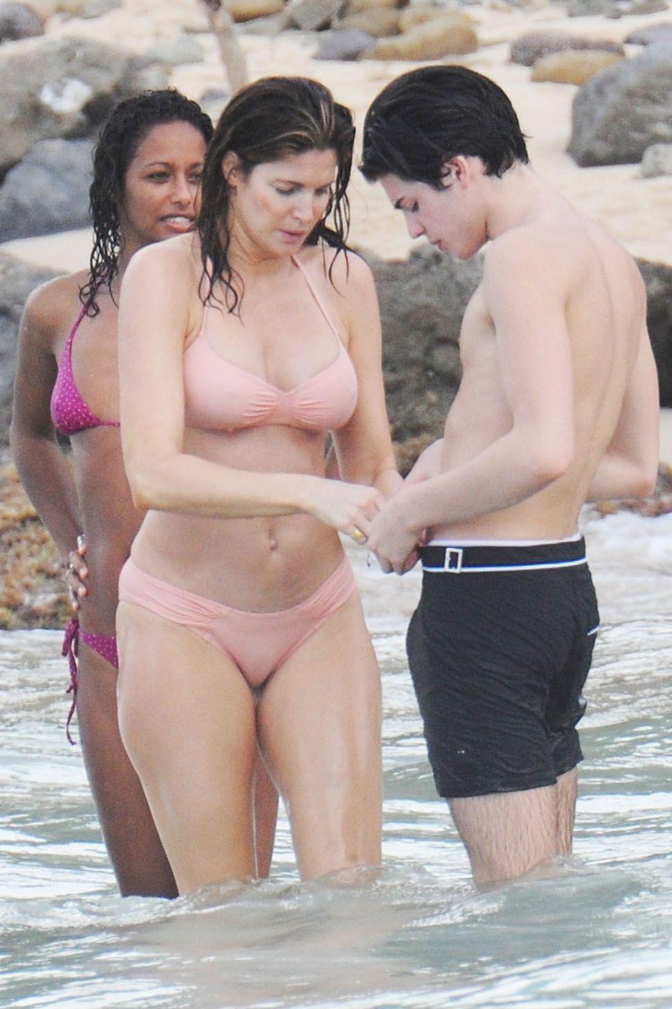 bikini Real beach mom