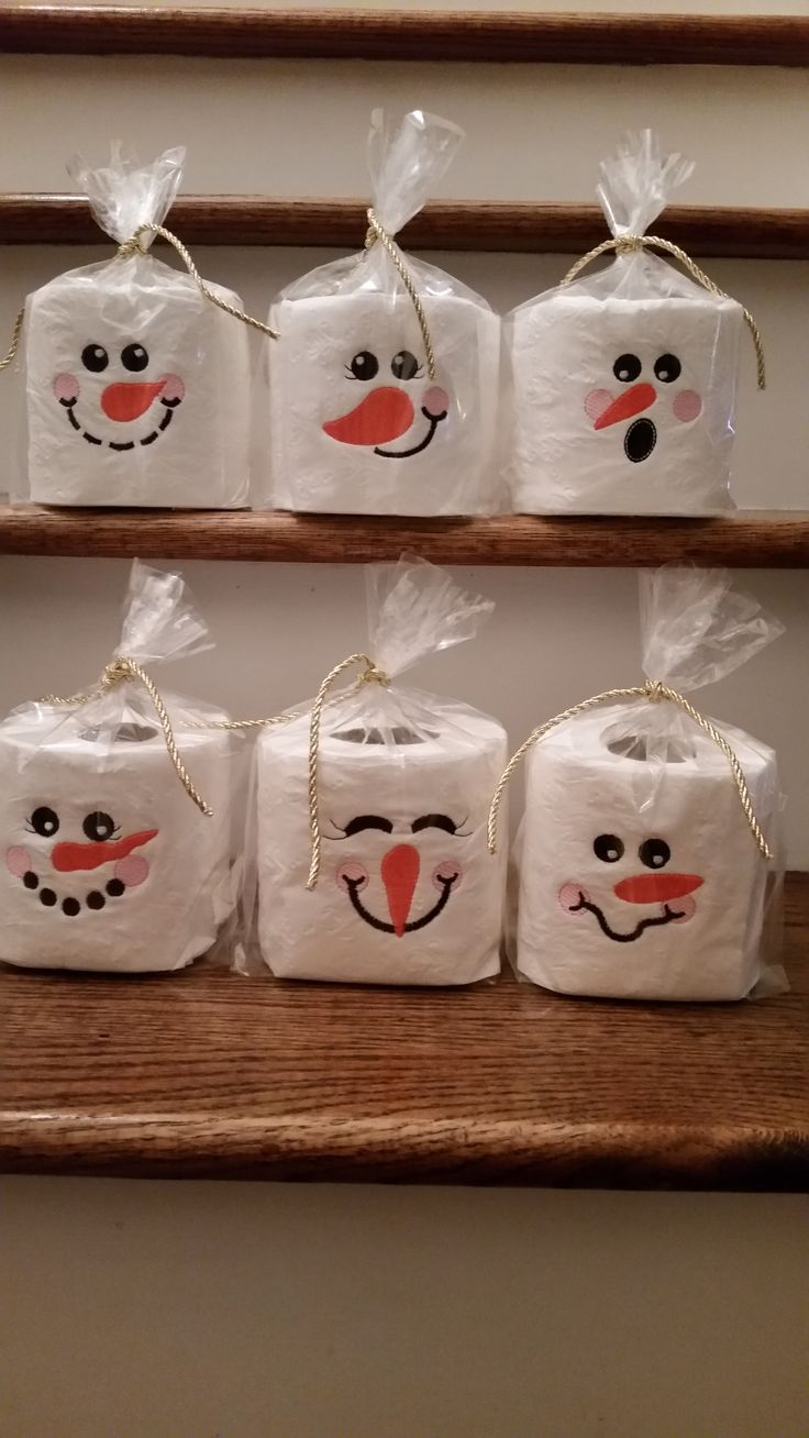 Nice Christmas Bazaar Craft Ideas Part - 6: Snowman Toilet Paper