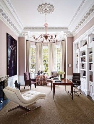 modern office library by wells amp fox and dell mitchell in boston rh pinterest com