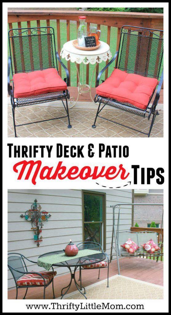 thrifty deck patio makeover tips finally home patio rh pinterest com