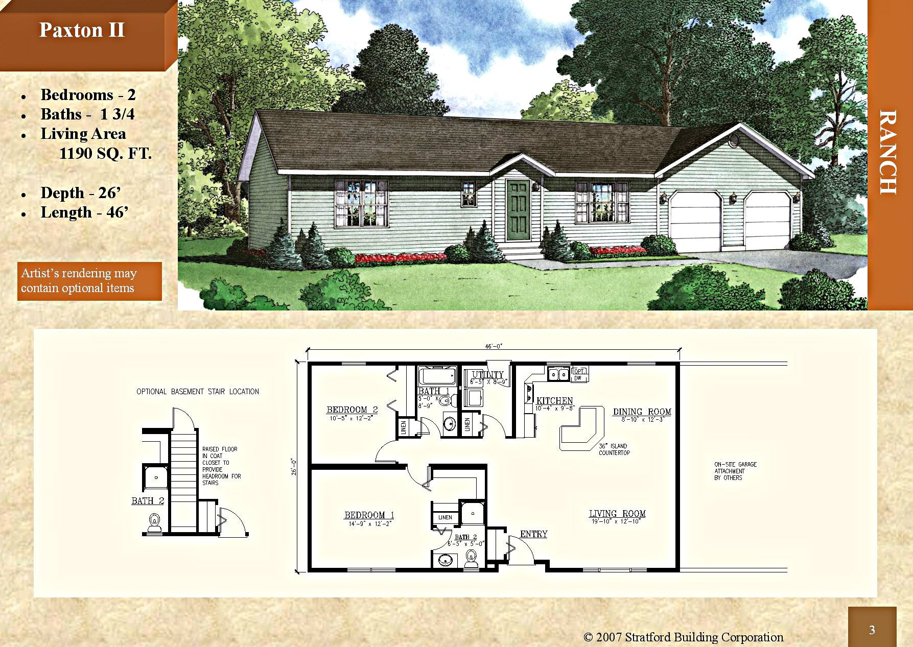 modular 2 story floor plan meadow valley 2740 sq ft modular ranch style home paxton ii 1190 sq recessed entry kitchen island master bedroom bath with shower