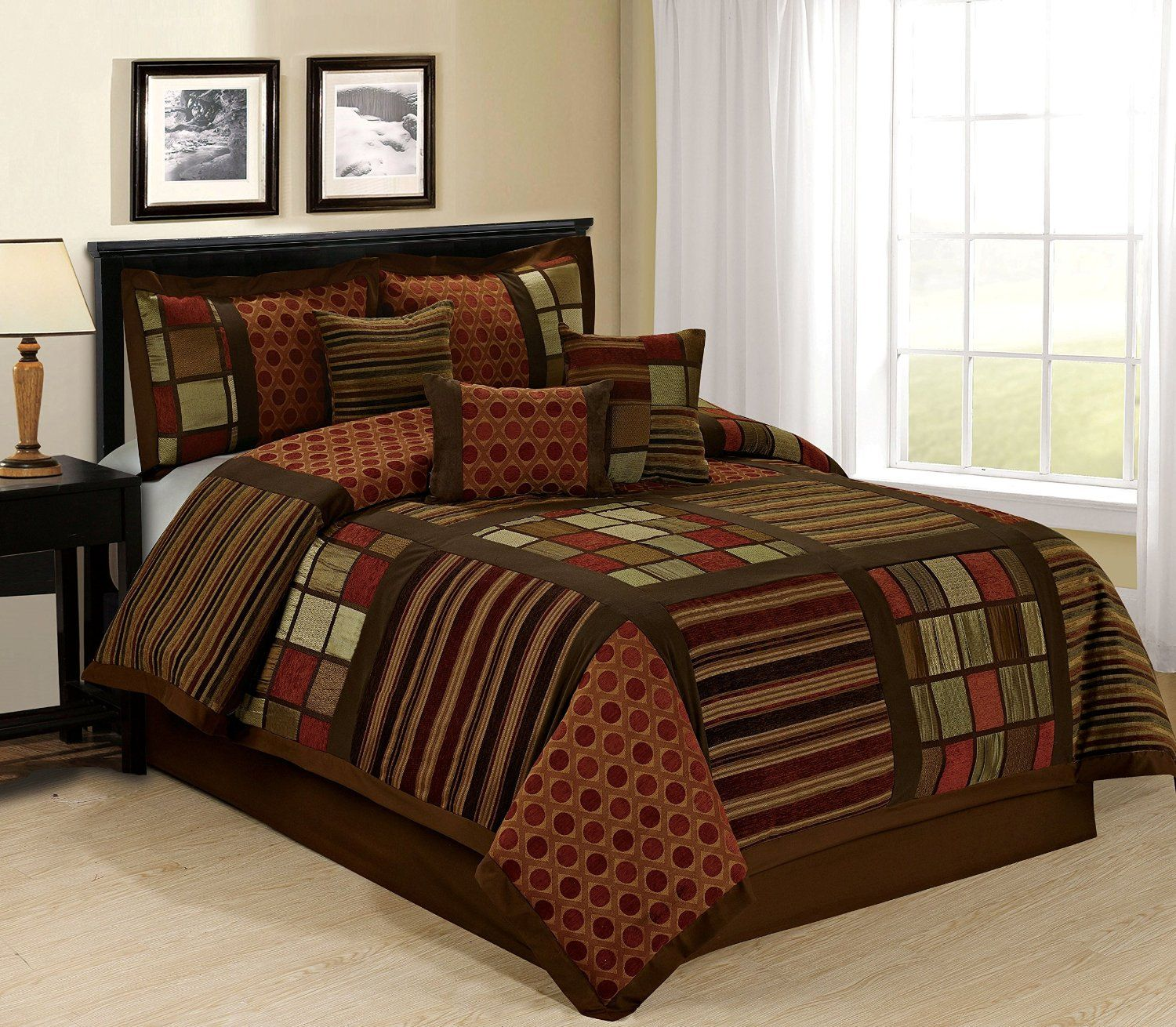 Maroon and Black Bedding Sets Maroon and