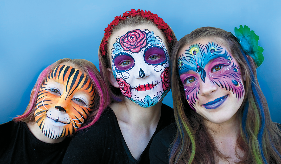New Face Painting Business Card Image Santa Barbara Face Painting And Henna Face Painting Easy Cool Face Paint Mime Face Paint