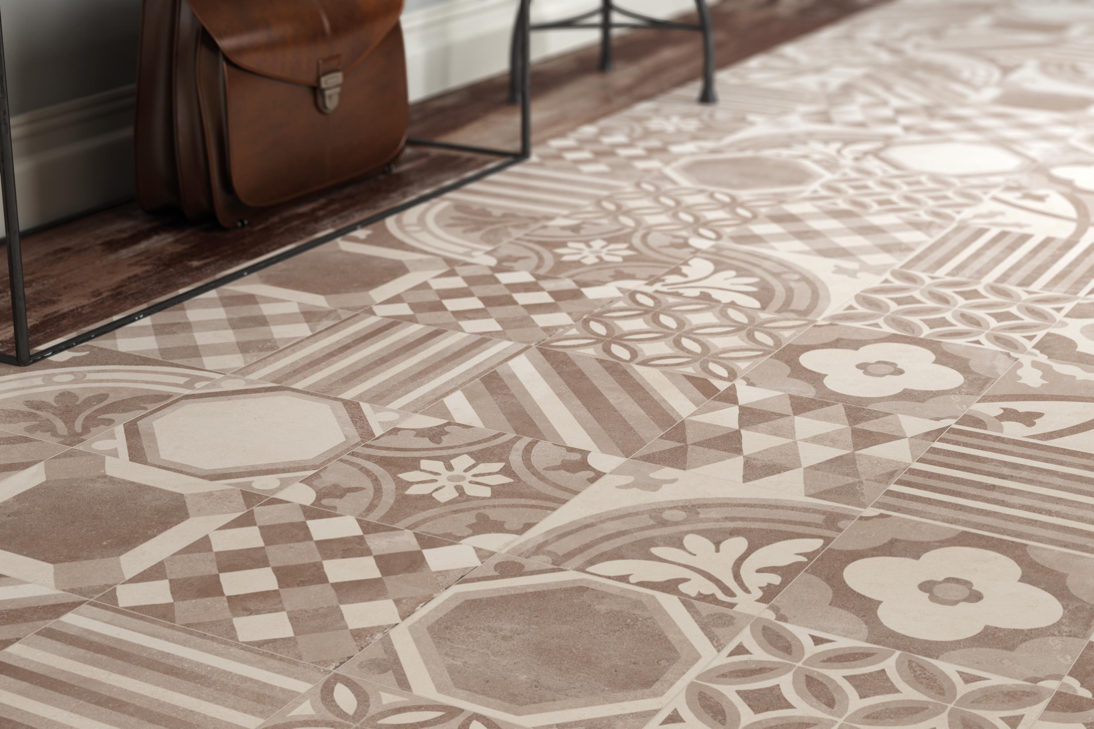 Pavimento vintage realizzato con cementine art cemento