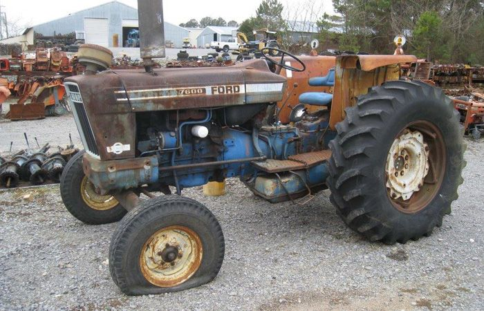 This tractor has been dismantled for Ford 7600 tractor parts