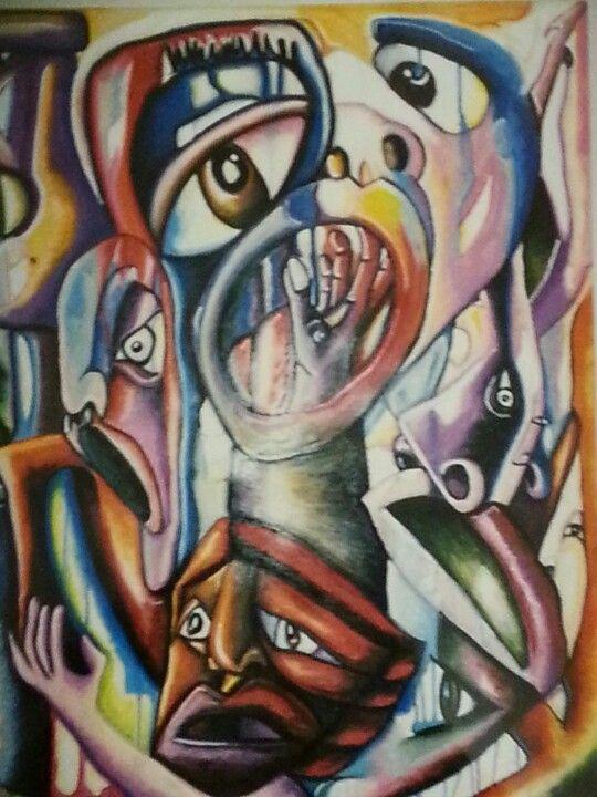 Pastel on canvas