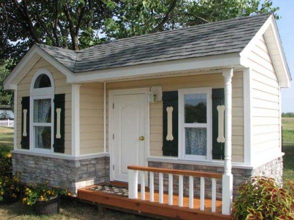 stunning outdoor dog house ideas big dog house windows shutters rh in pinterest com