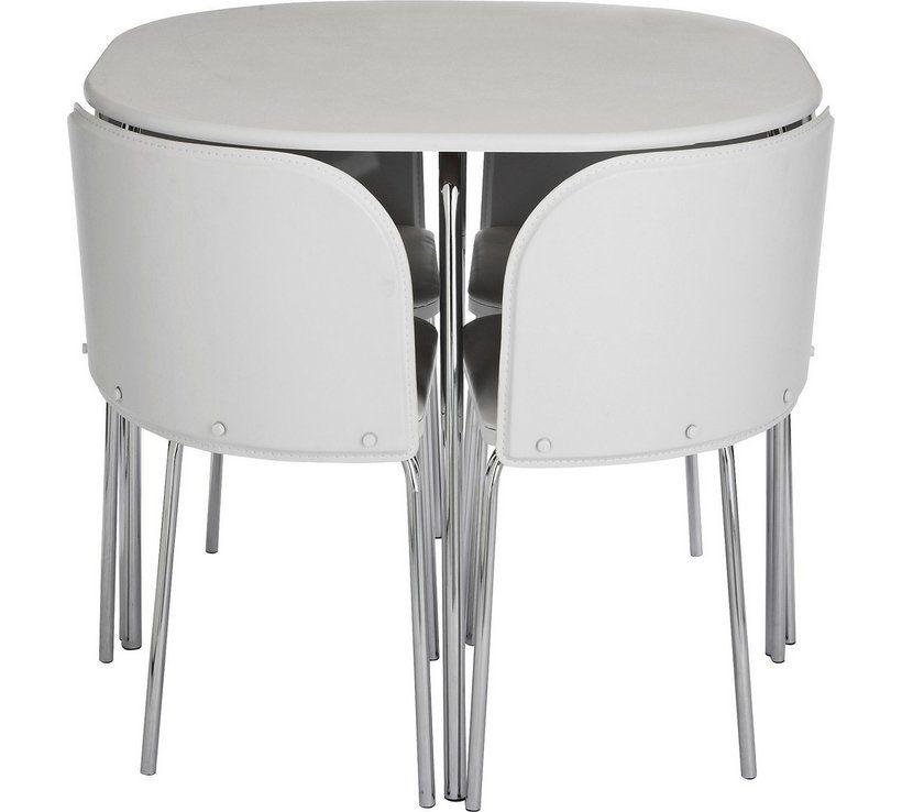 Buy Argos Home Amparo White Dining Table & 4 White Chairs