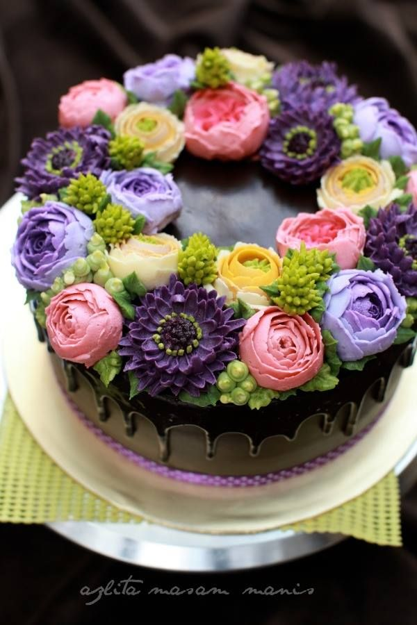 Cake Decorating Cream Flowers : Korean Flower Buttercream atau lebih di kenali di kalangan ...